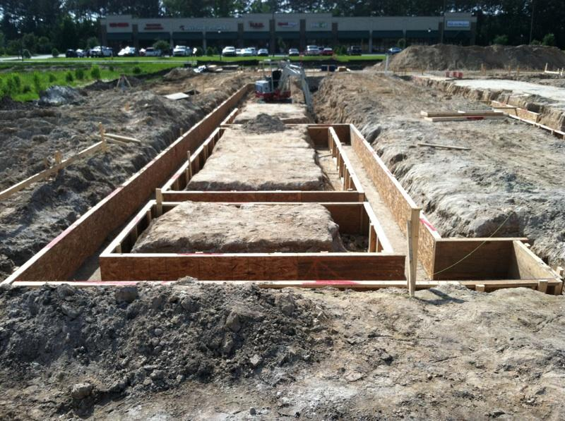Footings are taking a nice form savannah car wash for Cement foundation forms