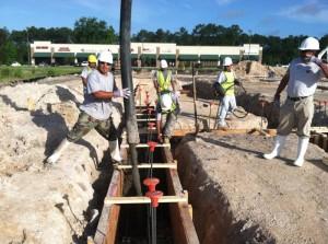 Guiding concrete