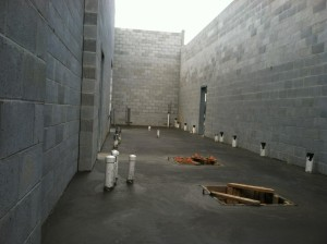 concrete poured in equip room2