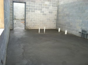 concrete poured in equip room3