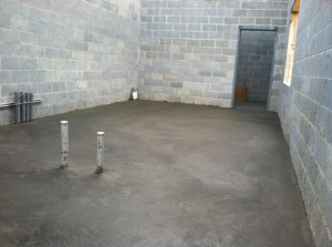 concrete poured in equip room4