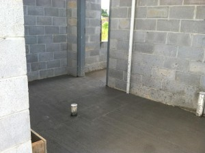 concrete poured in equip room5