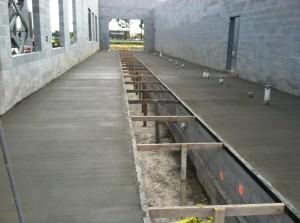 concrete poured in tunnel